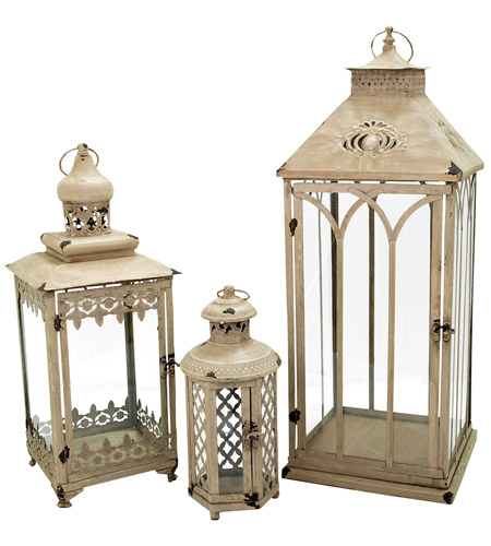 Pomeroy 401527 Hathaway 29 X 11 inch Antique Parchment Outdoor Nesting Lanterns photo