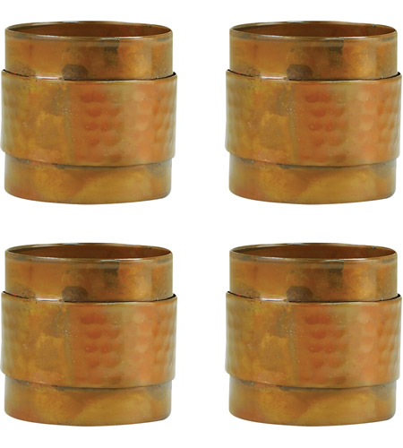 Pomeroy 609251 S4 Strap Hammered Burned Copper Napkin Ring Photo