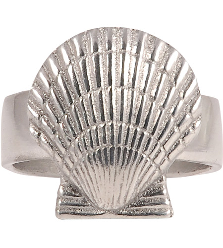 Pomeroy 609626 Shell Silver Napkin Ring photo