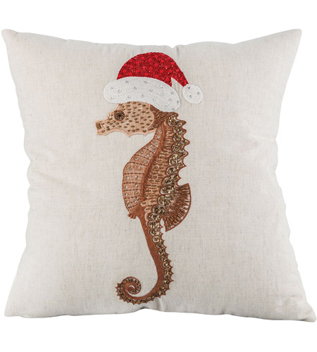 Pomeroy 905735 Santa Seahorse 20 inch Coco/Sand Pillow Cover photo