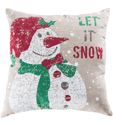 Pomeroy 906220 Snowfall 20 X 6 inch Crema and Holiday Hues Pillow photo