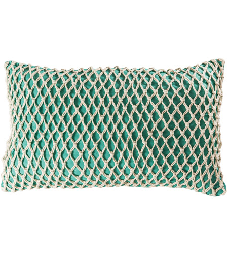 Pomeroy 906497 Cassio 26 X 6 inch Aqua with Deep Azure Lumbar Pillow Cover photo