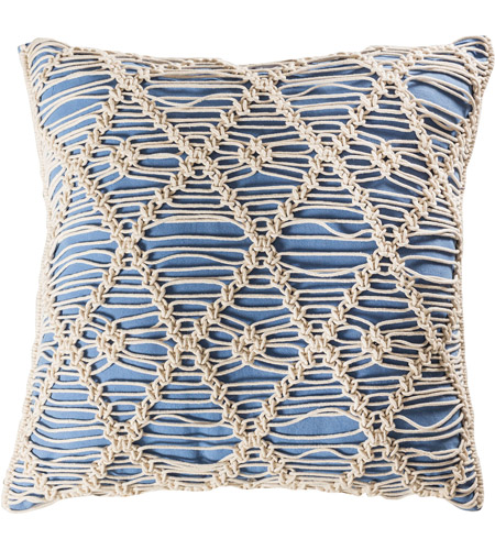 Pomeroy 906510 Hannah 20 X 6 inch Blue with Crema Pillow Cover photo