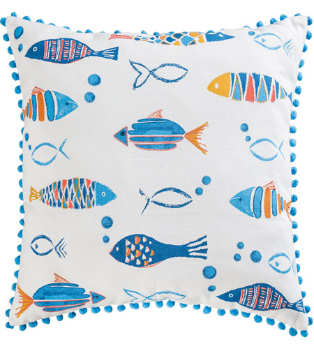 Pomeroy 907838 Straia Schools 20 X 6 inch Multi with Blue Pillow photo