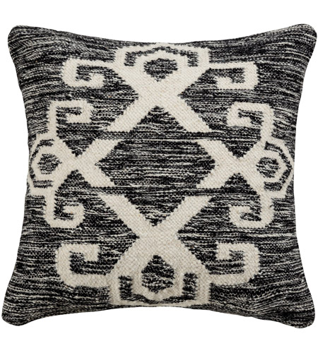 Pomeroy 908255-P Sangwa 20 X 0 inch Distressed Black/White Pillow Cover photo