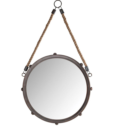 Pomeroy 916380 Tabern 22 X 12 inch French Antique Copper/Mirror Wall Mirror, Small photo