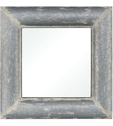 Pomeroy 916908 Coventry 36 X 36 inch Distressed White Galvanized Wall Mirror photo