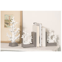 Pomeroy 000522 Coralyn 6 X 4 inch Grey/White Bookend alternative photo thumbnail