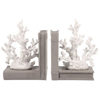 Pomeroy 000522/S2 Coralyn 6 X 4 inch Grey and White Bookend