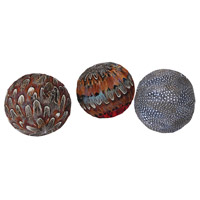 Plume Assorted Naturals Decorative Sphere