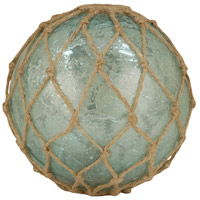 Pescador Azure Artifact/Jute Decorative Sphere