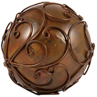 Corillian Burned Copper Decorative Sphere