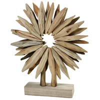 Thrilwater Weathered White and Natural Table Wreath