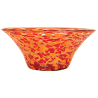 Inferno Red/Orange Confetti Bowl