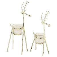 Snowhill Antique Zinc/Clear Holiday - Seasonal, Reindeer