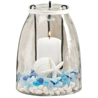 Oceana Rustic and Clear Candle Holder