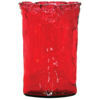 Maya Red Holiday Vase