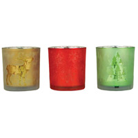Festival Green/Red/Champagne Holiday Votive