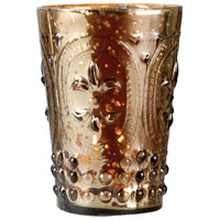 Fleur Antique Brown Lustre Votive