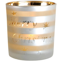 Tidings White/Gold Votive
