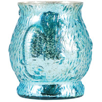 Pomeroy 393280 Atlantis 7 inch Antique Turquoise Hurricane Portable Light