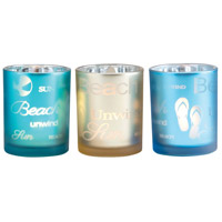 Beach Frost Antique Azure/Champagne/Blue Votive