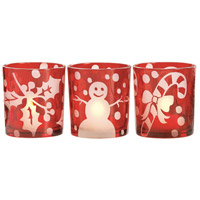 Festive Red Votive