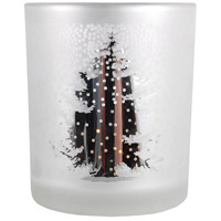 Tree Frosted Antique Silver Votive