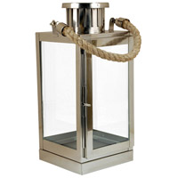 Revere 6 inch Silver/Clear Lantern Ceiling Light