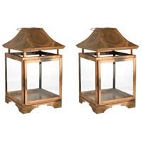 Bali 13 X 8 inch Burned Copper Outdoor Lanterns, Small