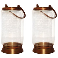 Taos 10 X 6 inch Burned Copper Outdoor Lanterns, Small