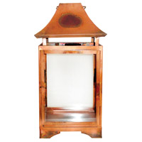 Bali Burned Copper/Clear Hanging Candle Lantern