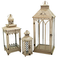 Hathaway 29 X 11 inch Antique Parchment Outdoor Nesting Lanterns