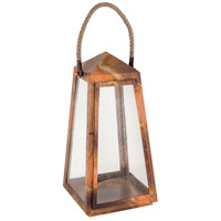 Levingston 10 inch Burned Copper Outdoor Lantern, Large