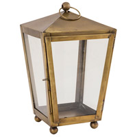 Capitol 8 inch Antique Brass Outdoor Lantern, Small