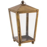 Capitol 10 inch Antique Brass Outdoor Lantern, Large