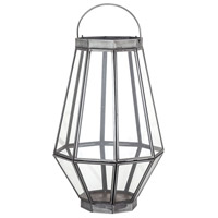 Helix 7 inch Clear Outdoor Lantern, Large