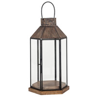 Franklin 8 inch Antique Zinc Outdoor Lantern