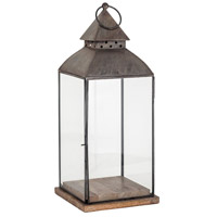 Rivera 8 inch Antique Zinc Outdoor Lantern