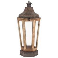 Townsend 11 inch Antique Zinc and Clear Lantern