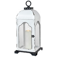Freswick 10 inch Colonial White and Clear Lantern, Large
