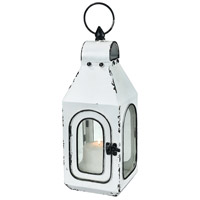 Freswick 5 inch Colonial White and Clear Lantern, Small