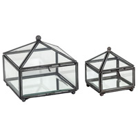 Pomeroy 406324/S2 Pyramid 5 X 5 inch Clear and Zinc Box