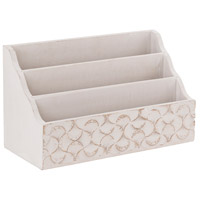 Edencrest Mango Wood and Weathered White Organizer
