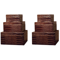 Pomeroy 426667/S6 Alligator 8 X 8 inch Brown Box, Square