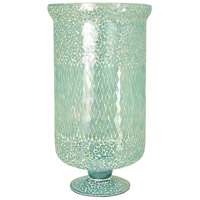 Sharad 16 inch Azure Mosaic Hurricane Portable Light