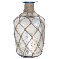 Cassieo Antique Silver With Jute Wrap Bottle Vase