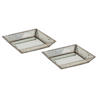 Cassia Antique Silver and Silver Tray