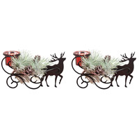 Sleigh Antique Red and Black Centerpiece