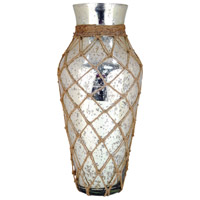 Cassieo Antique Silver With Jute Vase
